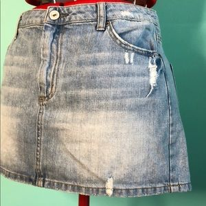 American eagle denim Jean mini skirt eight EUC